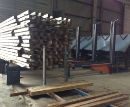 Destacking-stacking line for green and dry timber